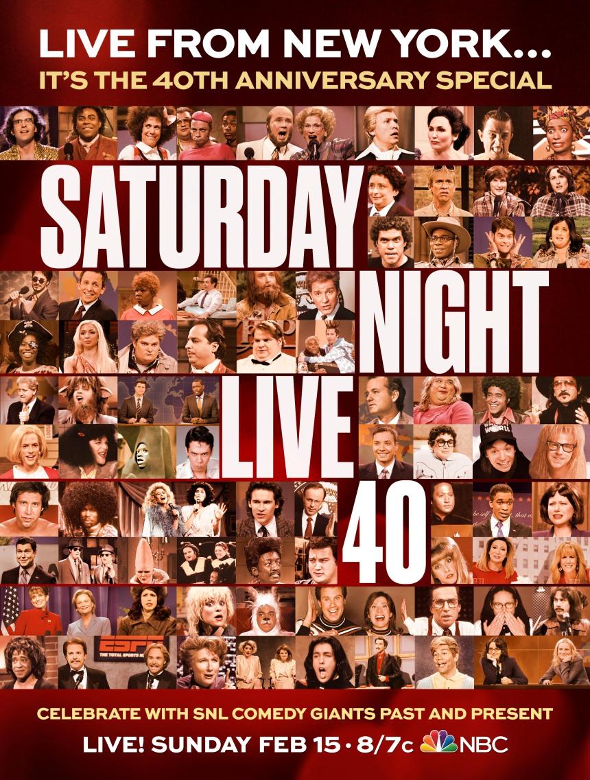 SNL 40th Special Vertical Key Art