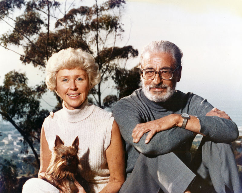 Geisel with his wife, Helen Palmer.